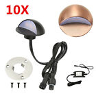 10X 50mm 12V Half Moon Garden LED Deck Stair Lights Step Fence Lamp Waterproof