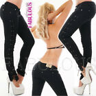 New Slim Skinny Leg Lace up Jeans For Women Hot Size 6 8 10 12 14 XS S M L XL