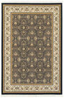 Blue Bordered Rings Petals Mirrored Traditional-European Area Rug Floral 1331B