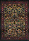 Red Traditional - Persian/Oriental Vines Leaves Flowers Area Rug Floral 470X4