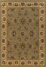 Blue Traditional - Persian/Oriental Vines Leaves Flowers Area Rug Floral 212H5