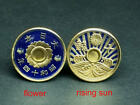 Japan enamelled coin cufflinks 10 cents