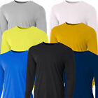 Men's Long Sleeve Loose Fit Rash Guard Surf Shirt Water Spor