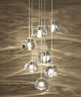 G4 Crystal Glass Ceiling Lighting Ceiling Fixtures Chandelier Stair Pendant Lamp
