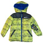 Toddlers Kids Winter Warm Yellow Hood Jacket Coat
