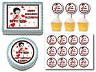 BETTY BOOP  Edible Birthday Party Cake Topper Plastic Cupcake Pick $7.75 USD