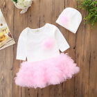Hot Newborn Infant Baby Girl Tops Romper Lace Tutu Skirt Dress Outfits Clothes