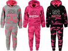 Girls Tracksuits Army Print Jogging Suits Hoodie Top & Jogging Bottoms Ages 4-14