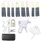 pick set tools - 24Pcs Lock Padlock Picking Kit Tools Transparent Key Extractor Lock Pick Gun Set