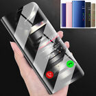 Clear View Mirror Case Flip Leather Stand Cover for Samsung Galaxy S9 S8 A8 Plus