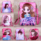 US Kids Girl Preschool Cross Body Bag Leather Satchel Cartoon Dolls Bag Wallet