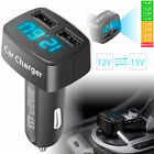 4-in-1 3.1A Dual USB Ports Car Cigarette Charger Adapter Voltage Current Tester