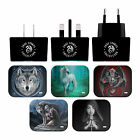 ANNE STOKES VARIOUS ART BLACK UK CHARGER & MICRO-USB CABLE FOR BLACKBERRY PHONES