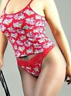 Stretch Cotton Floral 3 Colors Camisole w Lacy Thong Panties pajama set S or M