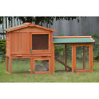 Rabbit Hutch Wooden Chicken Coop Guinea Pig Ferret Cage House Feeder Storey