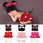 baby girl minnie mouse costume - Newborn Baby Girl Minnie Mouse Costume Crochet Knitted Photography Prop Outfits