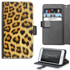 HAIRYWORM NATURAL LEOPARD PRINT DELUXE LEATHER WALLET PHONE CASE, FLIP CASE