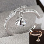 A1-R3125 Fashion Charm Ring 18KGP Pave Setting CZ Rhinestone Crystal Size 5.5-9
