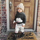 2pcs Toddler Infant Baby Boys Girl Clothes Set Floral Hoodie Tops+Pants Outfits