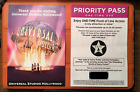 Universal Studios Hollywood Vintage  Front Of Line Pass (2 Priority Pass)