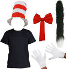 ADULT CAT COSTUME T-SHIRT HAT GLOVES BOW TIE TAIL WORLD BOOK DAY FANCY DRESS
