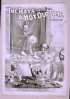 Photo Printed Old Poster Vintage Stage Drama Flyer Theatre Show Rays Hot Old Tim