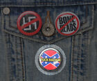 """1.25"""" ANTI-RACIST BUTTONS badge pins equality f*** racism no boneheads punk NEW"""