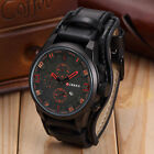 Curren Men Date Stainless Steel Leather Analog Quartz Sports Wrist Watch Fashion