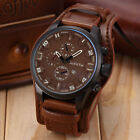 Curren Men Date Stainless Steel Leather Analog Quartz Sports Wrist Watch Fashion image
