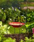 Looks Like A Metal Chair But Is A Birdbath Choose Yellow Or Red Ceramic Bowl