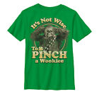 Star Wars St. Patrick's Day Don't Pinch a Wookiee Boys Graphic T Shirt $18.95 USD