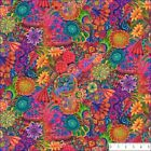"NORTHCOTT DIGITAL PRINT ""FLORAL FANTASY"" 22176-28 FLOWERS  FABRIC- SELECT SIZE"