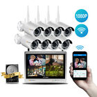 Wireless 8CH HD NVR Kit WiFi 2MP Outdoor Security Home IP Camera CCTV 2TB System