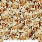 "QT ""DEER MOUNTAIN"" #24792-E PACKED DEER HEADS FABRIC- SELECT SIZE"