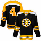 Bobby Orr Boston Bruins Black Throwback Authentic Vintage Jersey