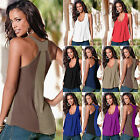 Women Summer Vest Top Sleeveless Tee Shirt Blouse Casual Loo