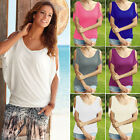 Womens Cold Shoulder Loose Tops Casual Blouse T-Shirt Summer Short Sleeve Tee