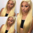 Pre Plucked Lace Front Wig Human Hair Blonde Straight Remy Brazilian Glueless