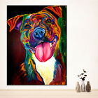 Unframed Modern Abstract Oil Painting Colorful Dog Huge Wall Decor Art On Canvas