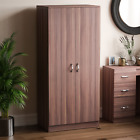 Riano 2 Door Wardrobe Shelf Hanging Rail Solid Wood Bedroom Furniture Storage <br/> APRIL SALE - UP TO 15% OFF EVERYTHING