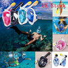 Swimming Full Face Mask Surface Diving Snorkel Scuba Pipe for GoPro XS/S/M/L/XL
