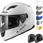 LS2 FF320 Stream Evo Solid Motorcycle Helmet & Visor Motorbike Bike Crash ECE