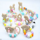 Kyпить Animal Wooden Teether Baby Chewable Teething Bracelet Silicone Beads Rattle Toys на еВаy.соm