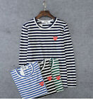 creative play in angleton tx - STRIPED MEN'S WOMEN COMME DES GARCONS CDG PLAY RED HEART LONG SLEEVE T-SHIRT