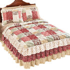 Worthington Patchwork Quilted Ruffle Skirt Lightweight Bedspread image