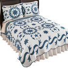 Samantha Patch Starburst Blue White Reversible Lightweight Quilt image