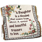 Floral Treasure Blessings Throw Blanket, by Collections Etc image
