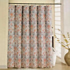 NEW Waverly Fabric Shower Curtain Set with 12 Metal Roller Hooks You Choose