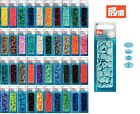 Prym 12.4 mm x 30 Round Color Snaps - Press Fasteners - Choice of 43 Colours