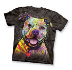 Colorful Short Sleeve Beware Of Pit Bulls Tee, by Collections Etc